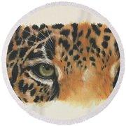 Eye-catching Jaguar Round Beach Towel