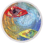 Eye For Eye Round Beach Towel
