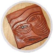 Eye In Year 10 - Tile Round Beach Towel