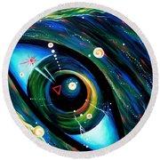 Eye Of Immortal Eternity. Timeless Space 2 Round Beach Towel