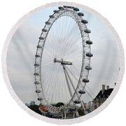 Eye Of London I Round Beach Towel