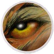 Eye Of The Beast Round Beach Towel
