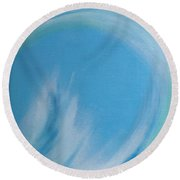 Eye Of The Ocean Round Beach Towel