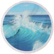 Eye Of The Ocean Round Beach Towel