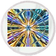 Eye Of The Portal 7th Dimension Activation 4 Round Beach Towel
