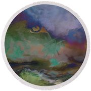 Eye Of The Storm Round Beach Towel