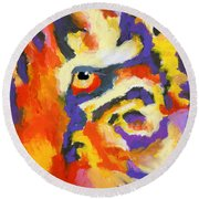 Eye Of The Tiger Round Beach Towel