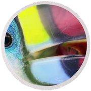 Eye Of The Toucan  Round Beach Towel