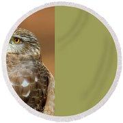 Eye On The Fuchsia Round Beach Towel