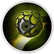 Eye Will See You In The Garden Round Beach Towel