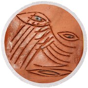Eyes Adrift - Tile Round Beach Towel