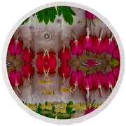 Eyes Made Of The Nature Round Beach Towel