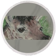 Eyes On You Round Beach Towel