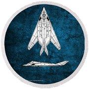 F-117 Nighthawk  Round Beach Towel