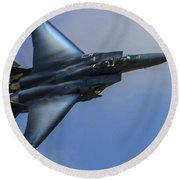 F-15 Going Supersonic Round Beach Towel