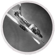F-86 Jet Fighter Plane Round Beach Towel