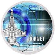 F/a-18 Hornet Round Beach Towel