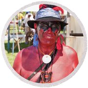 F And I War Re-enactor 6965 Round Beach Towel