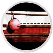 F Dock Buoy Round Beach Towel