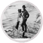 F. Jay Haynes (1853-1921) Round Beach Towel