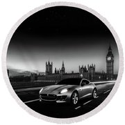 F-type In London Round Beach Towel