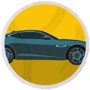 F Type Round Beach Towel