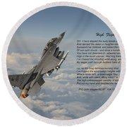 F16 - High Flight Round Beach Towel