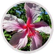 F17 Pink Hibiscus Round Beach Towel
