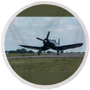 F4u-4 Corsair Airplane 30 Round Beach Towel