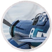 F4u Corsair N11y Round Beach Towel