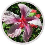 F5 Hibiscus Flower Hawaii Round Beach Towel