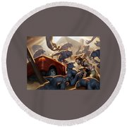 Fables Round Beach Towel