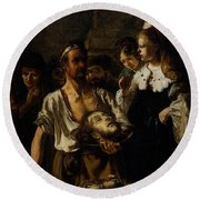 Fabritius Carel The Beheading Of St John The Baptist Round Beach Towel