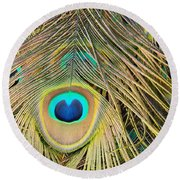 Fabulous Feathers Round Beach Towel