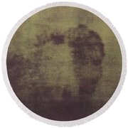 Face Of Jesus Round Beach Towel