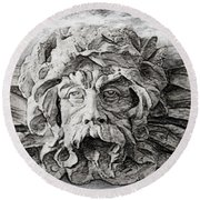 Father Time 2 Round Beach Towel