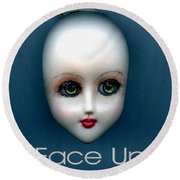 Face Up Round Beach Towel