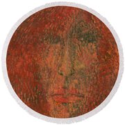 Face Round Beach Towel