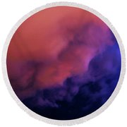 Faces In The Clouds 001 Round Beach Towel