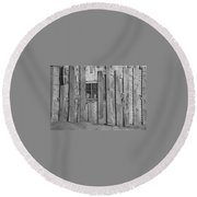 Faces In The Window Round Beach Towel