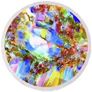Faceted Gems Round Beach Towel