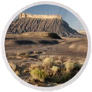 Factory Butte 0552 Round Beach Towel