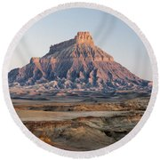 Factory Butte 0761 Round Beach Towel
