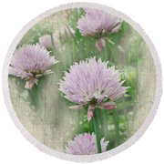 Faded Floral 11 Round Beach Towel