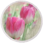 Faded Floral 8 Round Beach Towel