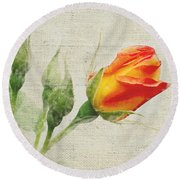 Faded Floral 9 Round Beach Towel