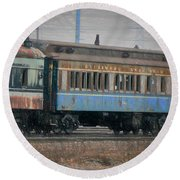 Faded Glory - B And O Railroad Car Round Beach Towel