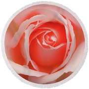 Faded - Perfect Pink Rose Round Beach Towel