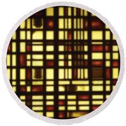 Faded Rectagles Round Beach Towel