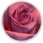 Faded Rose Round Beach Towel